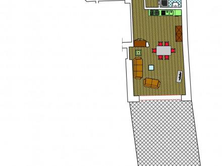 Zona giorno più due stanze in 8258